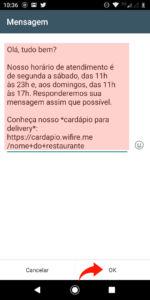 mensagens automaticas whatsapp 51