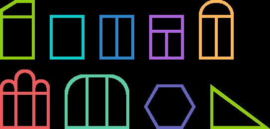 кольорові рішення для вікон