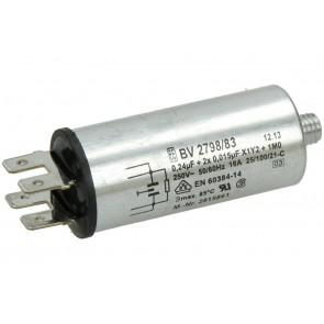 Miele condensator  (ontstoringsfilter) voor wasdroger of vaatwasser witgoedpartsnr:  2815861