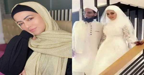 Sana Khan is now married to mufti anas belongs to gujarat