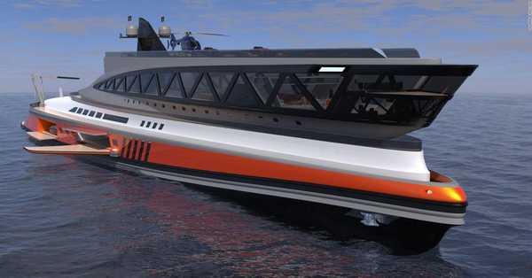 The mega yacht concept that looks like a shark
