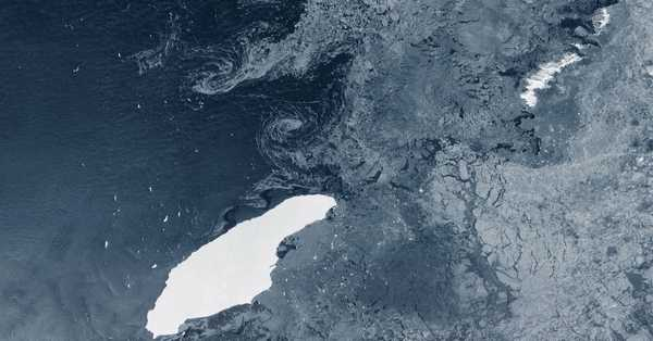 Giant iceberg may to crash with South Georgia this month