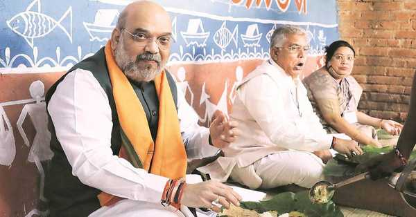 Home Minister Amit Shah has arrived at Kolkata in the midst of the revolt in the Trinamool Congress. He began mission Bengal and visited Ramakrishna Ashram