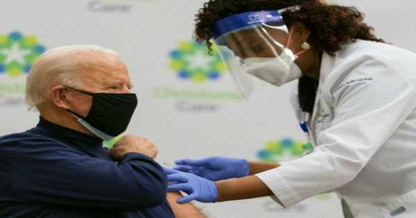 US President Joe Biden Receives First Dose Of Coronavirus Vaccine Live On Television