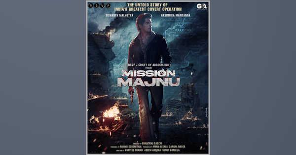 In Bollywood: Mission Majnu, Sidharth Malhotra And Rashmika Mandanna Unite For The Espionage Thriller