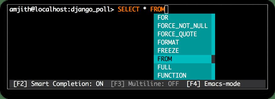 MyCLI - MySQL
