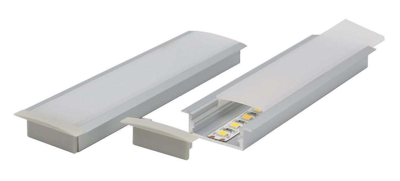 wide shallow recessed aluminium profile