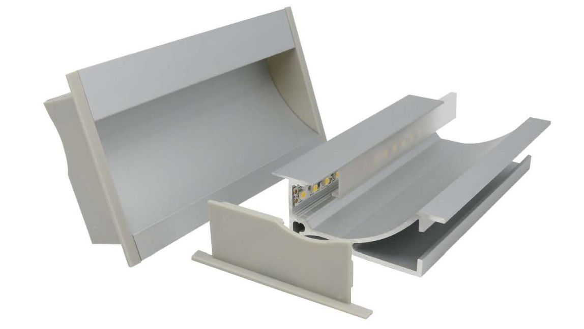 recessed light washing aluminium profile