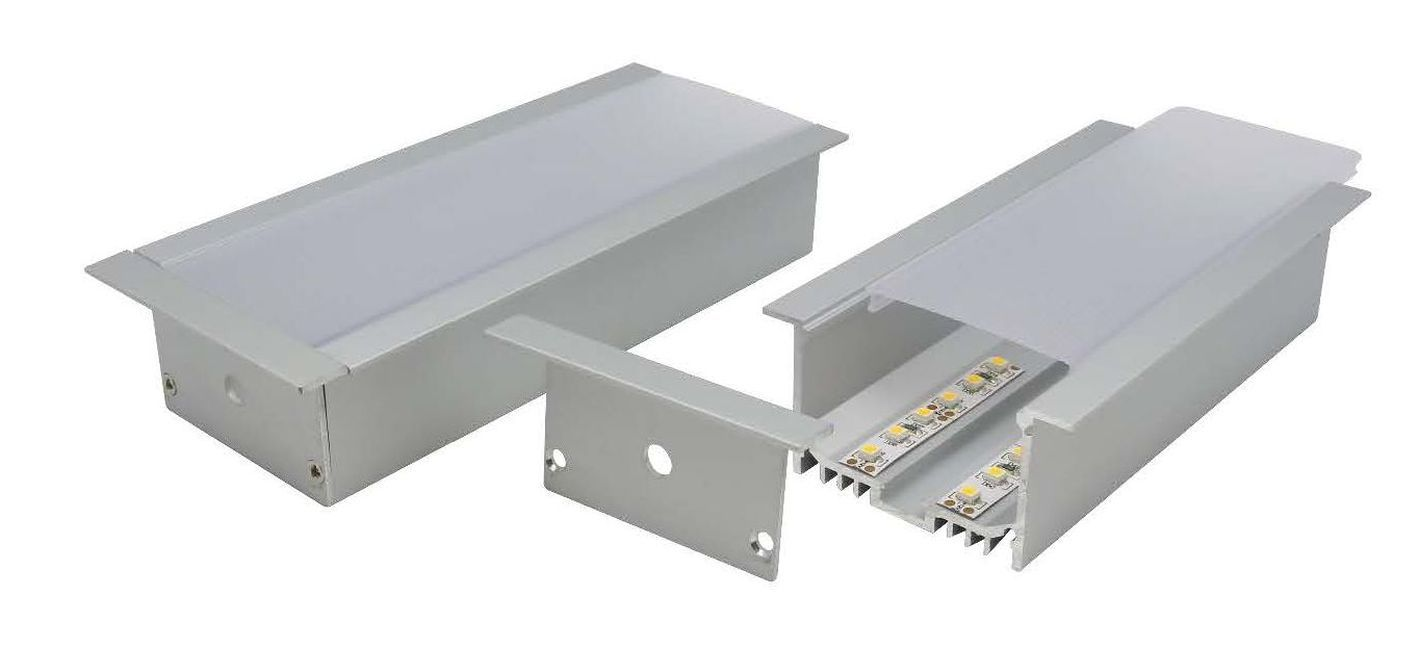 heavy duty wide recessed aluminium profile