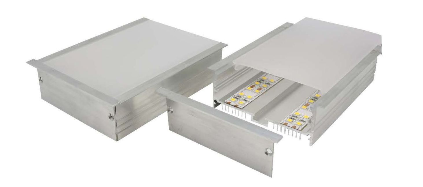 Australian made heavy duty recessed aluminium profile