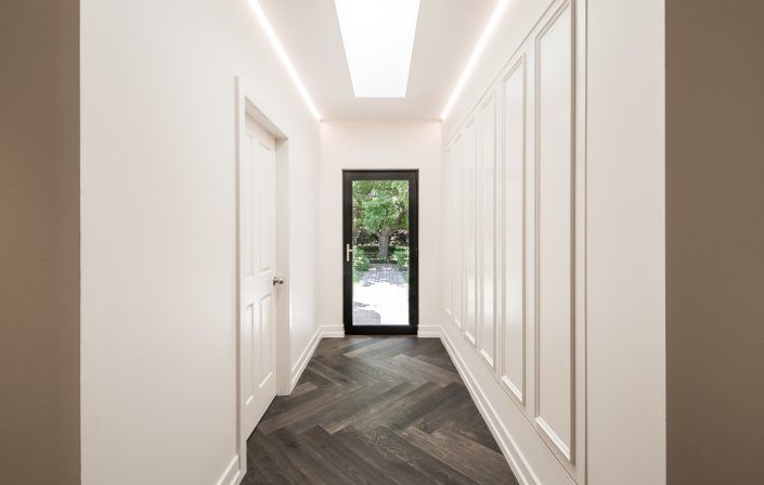 Hallway using Warm White LED Striplight