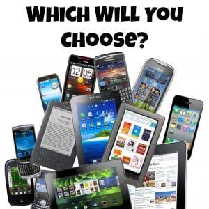 tablet or smartphone