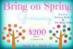 spring 2014 giveaway