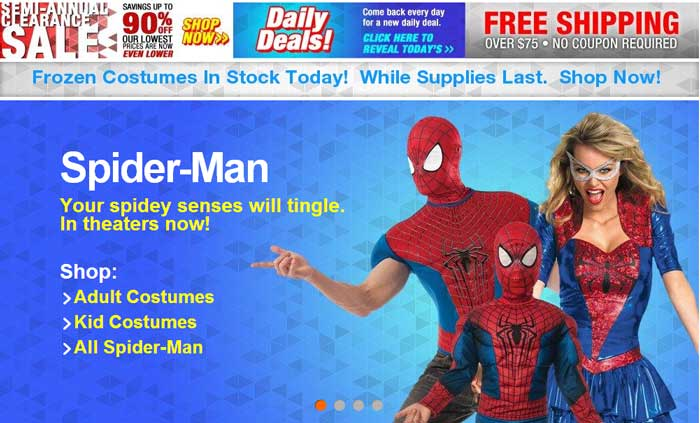 costume clearance sale image