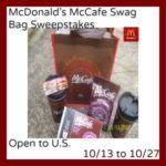 mcdonald's mccafe swag bag image
