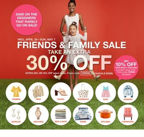 Friends and Family Sale