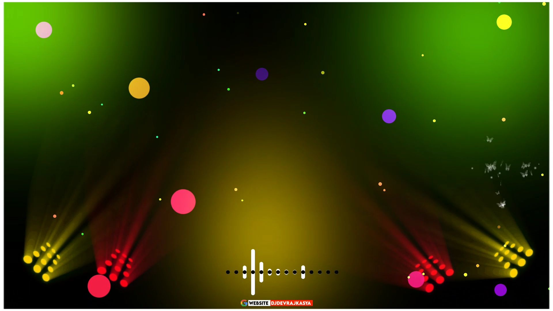 Awesome Green Screen Dj Light Avee Player Template Download
