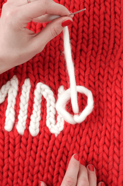 Chain stitch is an easy way to personalise your knits