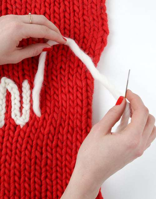 Personalise your knits with chain stitch