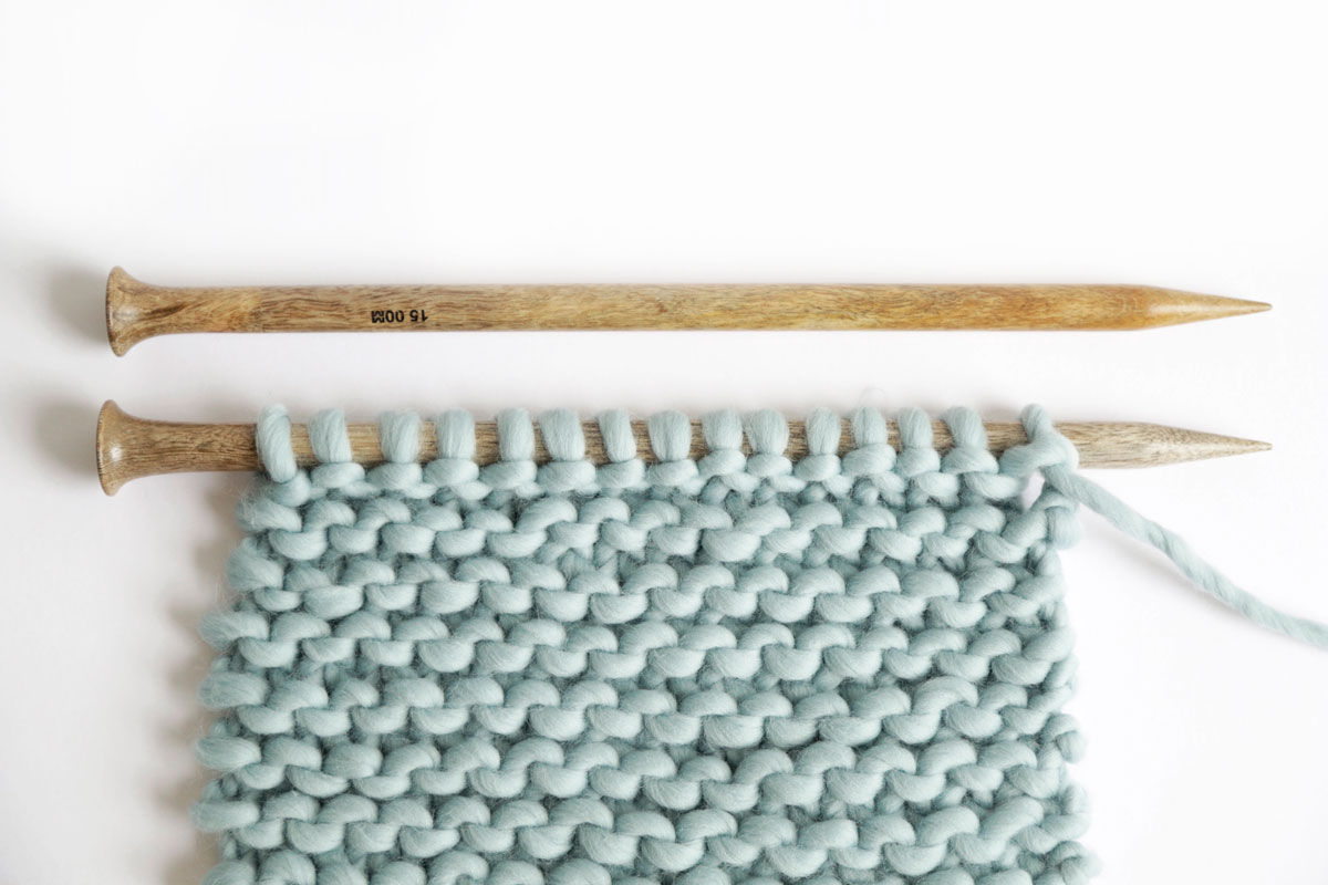 Use garter stitch to knit the ultimate beginner sweater