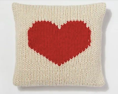 Crazy For You Cushion Free Knitting Pattern