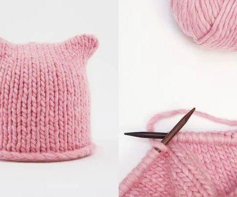 Kat Knits Pussy Hat Free Knitting Pattern