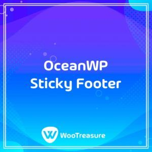 OceanWP Sticky Footer