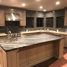Fullerton New Home Construction Job By Gt Tile Stone Kitchen Backsplash And Wood Flooring
