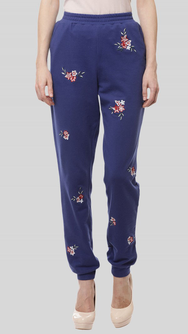 SbuyS  - Floral Embroidered Jogger