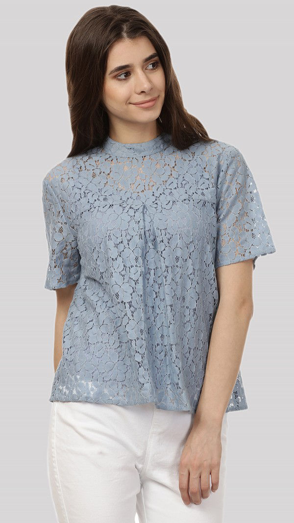 SbuyS - Short Sleeve Lace Blouse