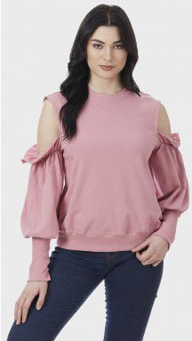 SbuyS - Cold Shoulder Sweatshirt