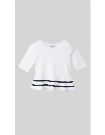Beyond Clouds - Teen Girls Peplum T-Shirt