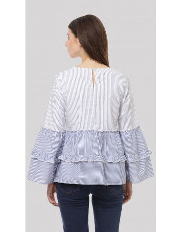SbuyS - Double Layered Peplum Blouse