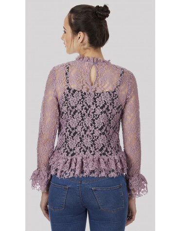 SbuyS  - Lace Peplum Blouse