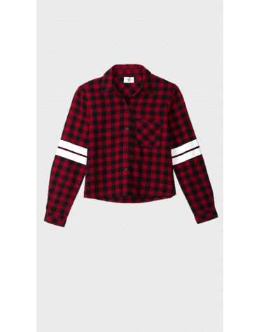 Beyond Clouds - Teen Girls Cropped Plaid Shirt