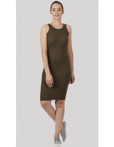 SbuyS - Twin Strap Olive Bodycon Dress