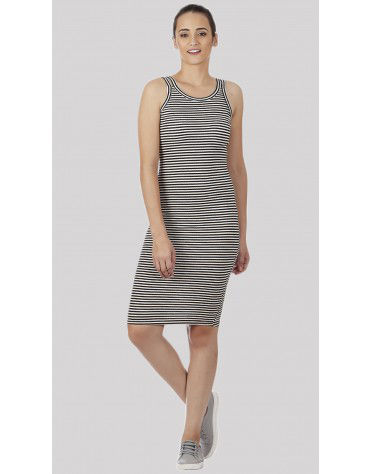 SbuyS - Twin Strap Stripe Bodycon Dress