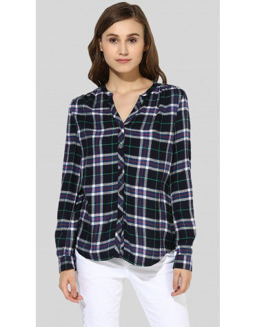 SbuyS  - Long Sleeve Button Down Plaid Shirt