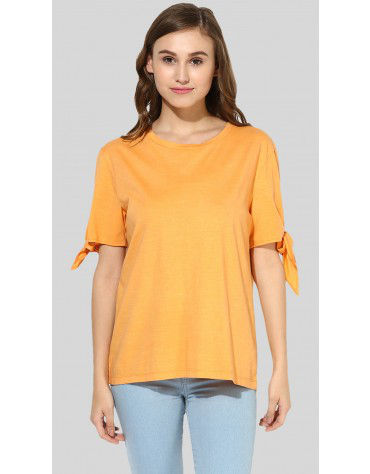 SbuyS  -Tie Knot Sleeve T-Shirt