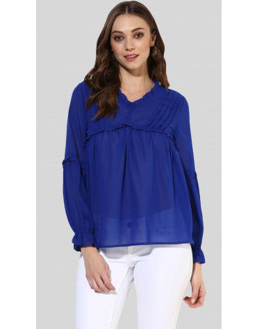 SbuyS  -  Pleated Peasant Top