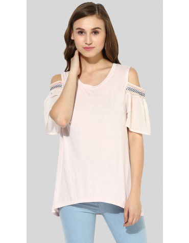 SbuyS - Smocked Cold Shoulder Top