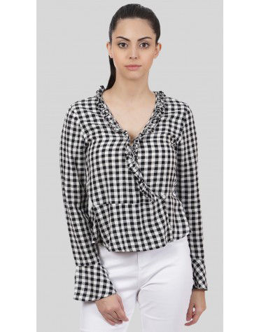 SbuyS - Ruffle Gingham Blouse