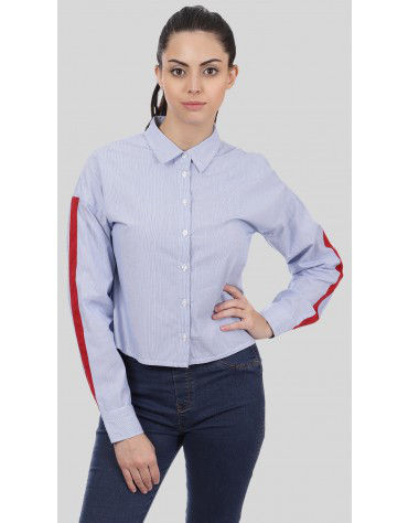 SbuyS  - Contrast Tape Stripe Shirt