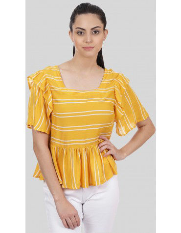 SbuyS - Striper Peplum Blouse