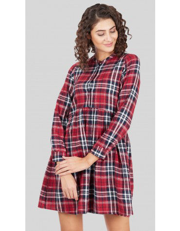 SbuyS - Plaid Shirt Dress