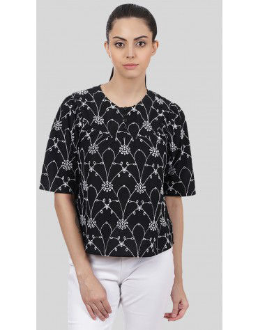 SbuyS - All Over Embroidered Blouse
