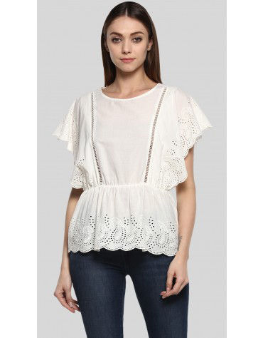 SbuyS  - Flutter Sleeve Blouse