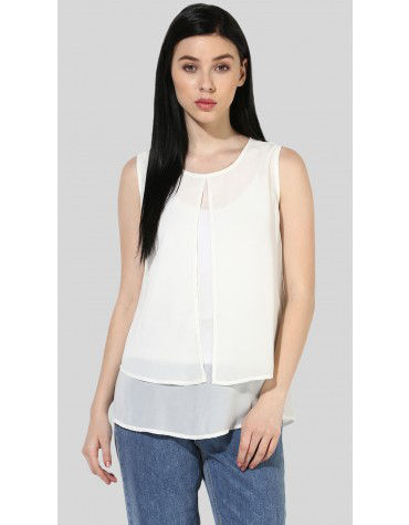 SbuyS  - Sleeveless Layered Blouse
