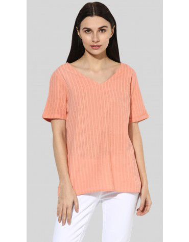 SbuyS - Short Sleeve V-Neck Blouse