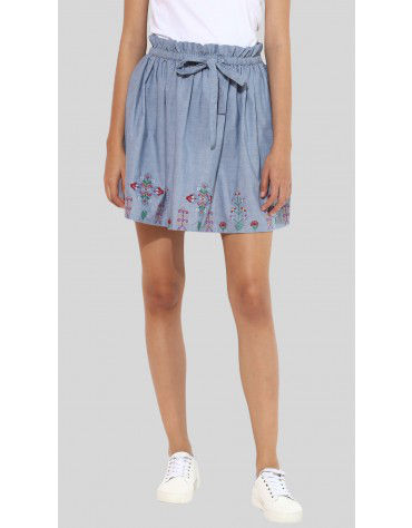 SbuyS  - Embroidered Denim Skirt
